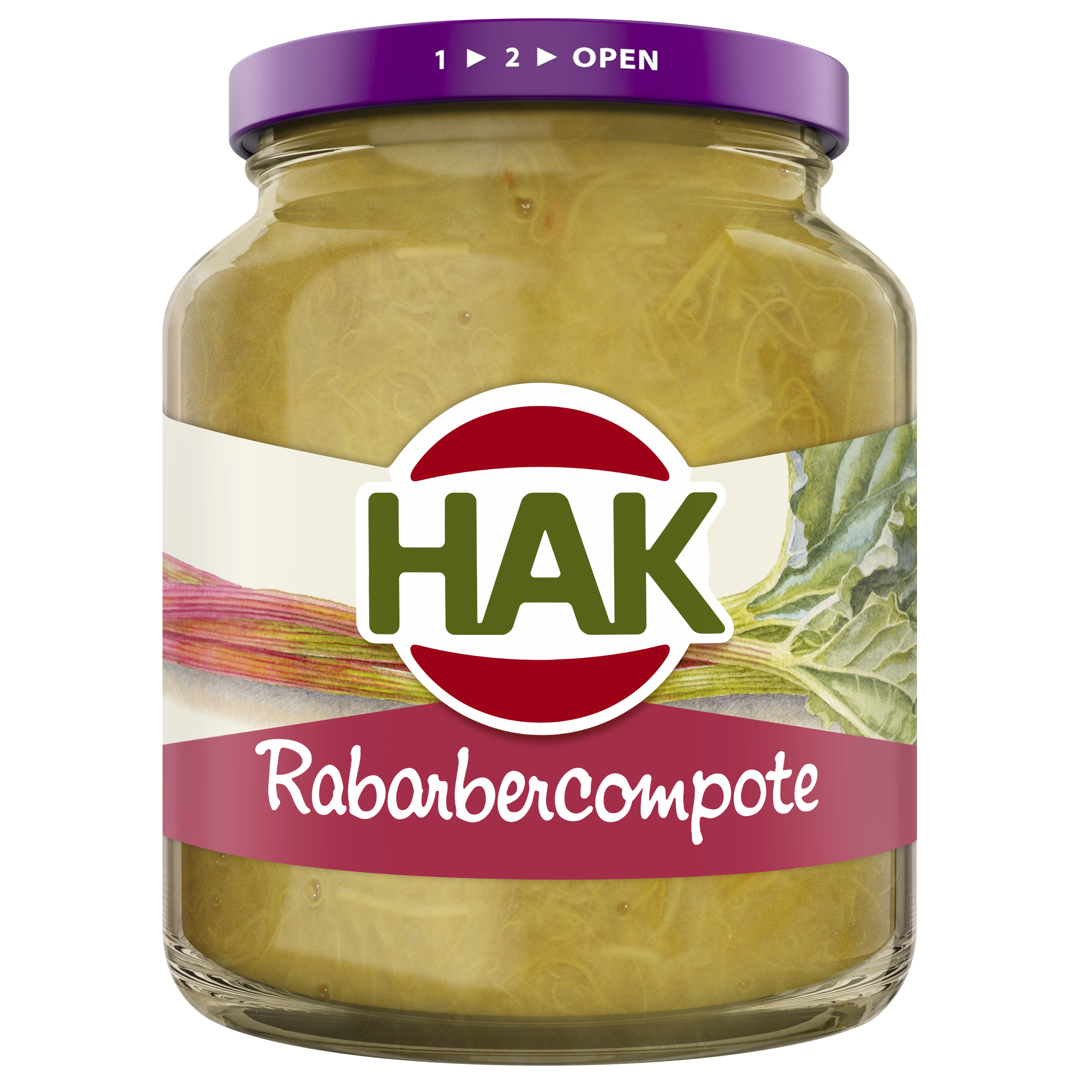 Hak Rabarbercompote 370 Nl 8720600608858 1710095 Front
