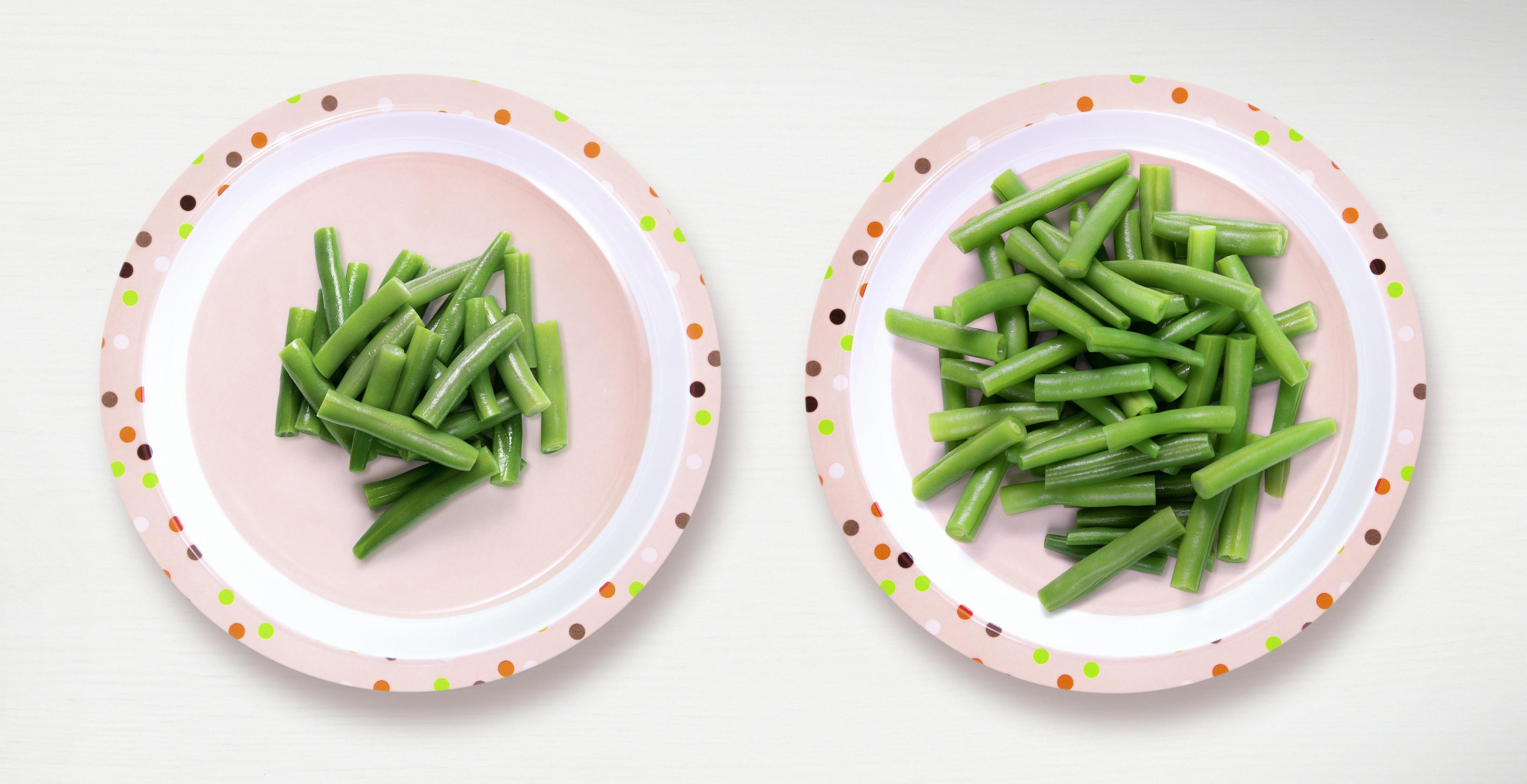 Gemiddelde en aanbevolen hoeveelheid groenten