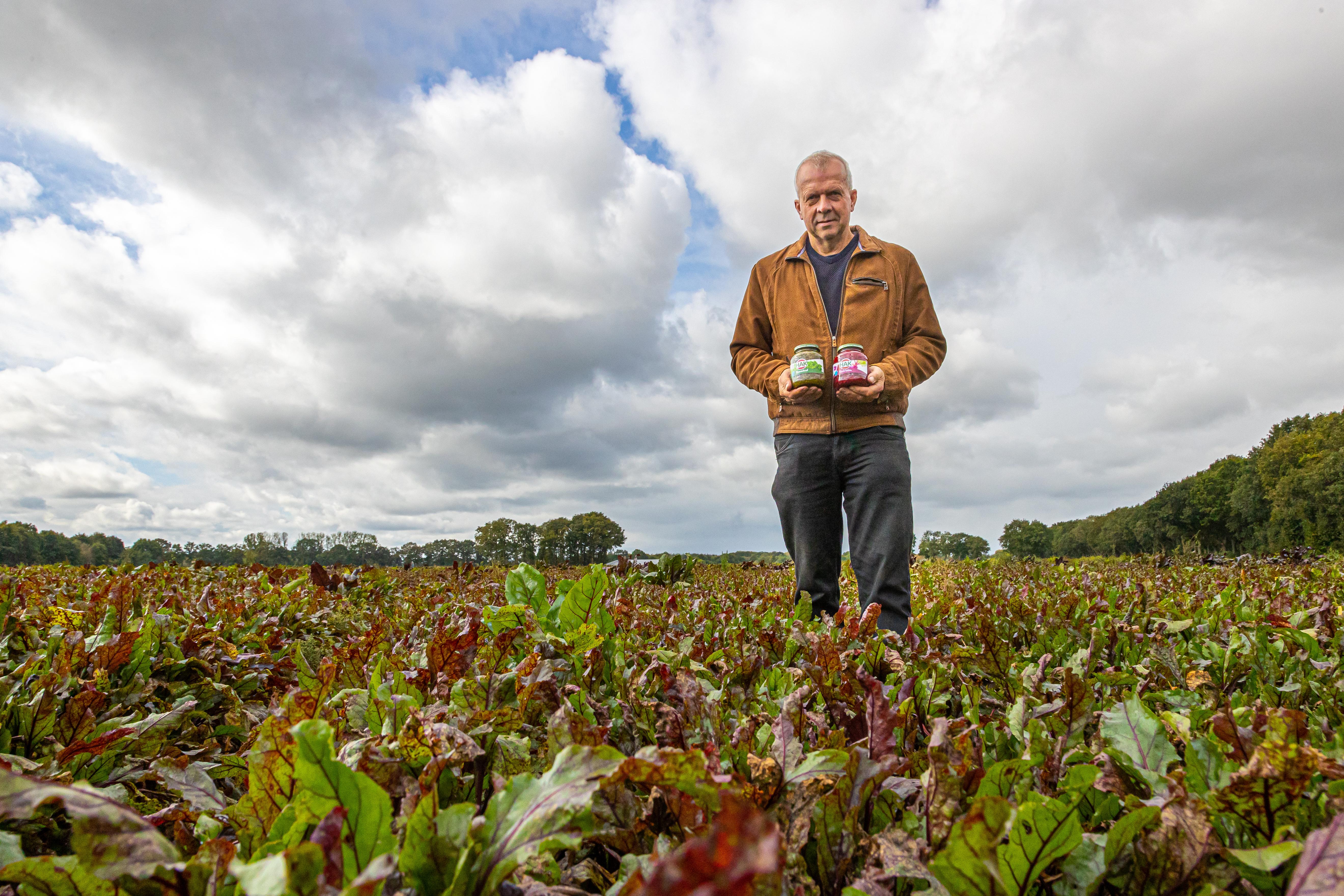 Pieter Verschure met HAK boerenkool en rode biet