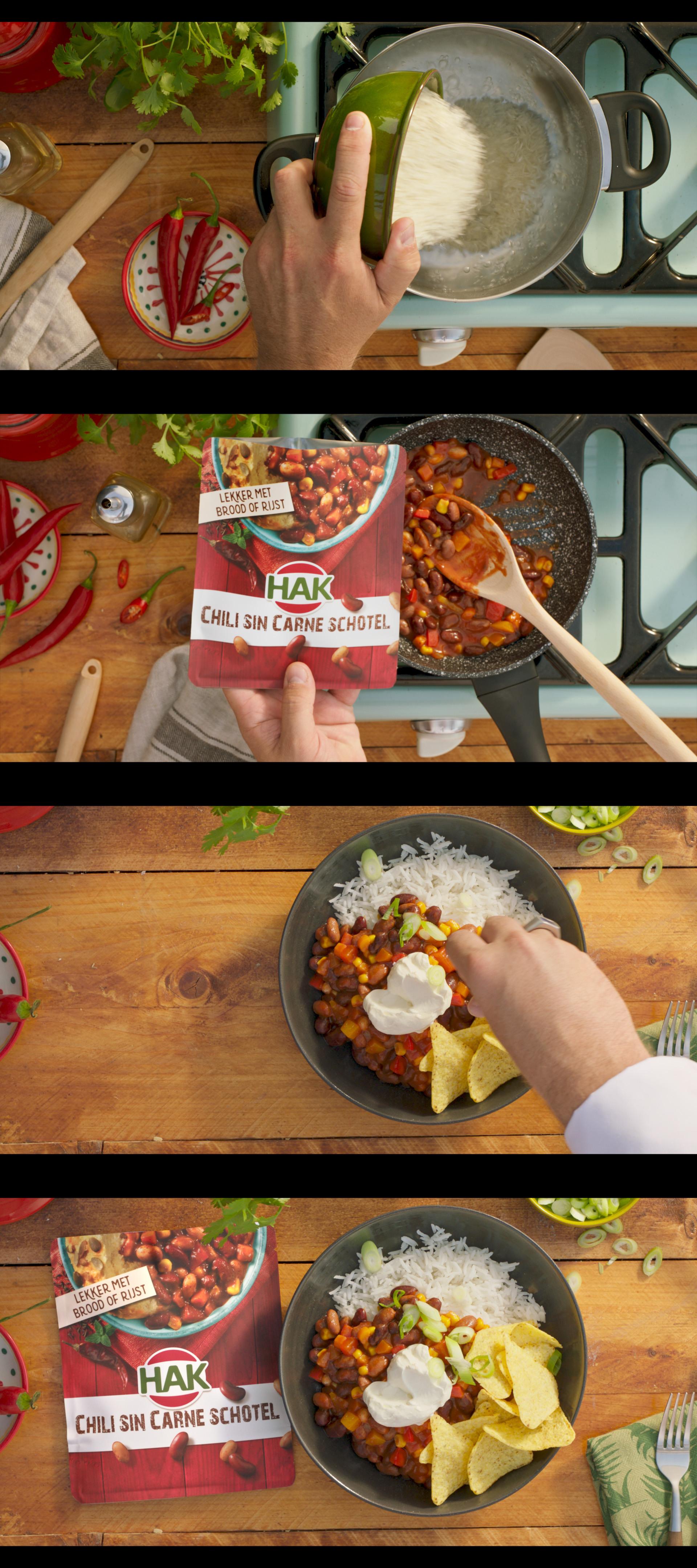 Hak chili sin carne