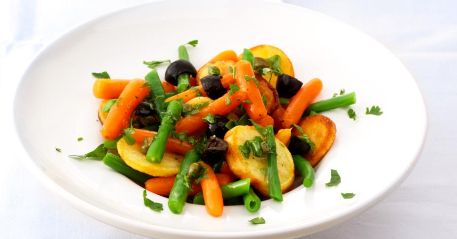 HAK Lauwwarme salade bijgesneden
