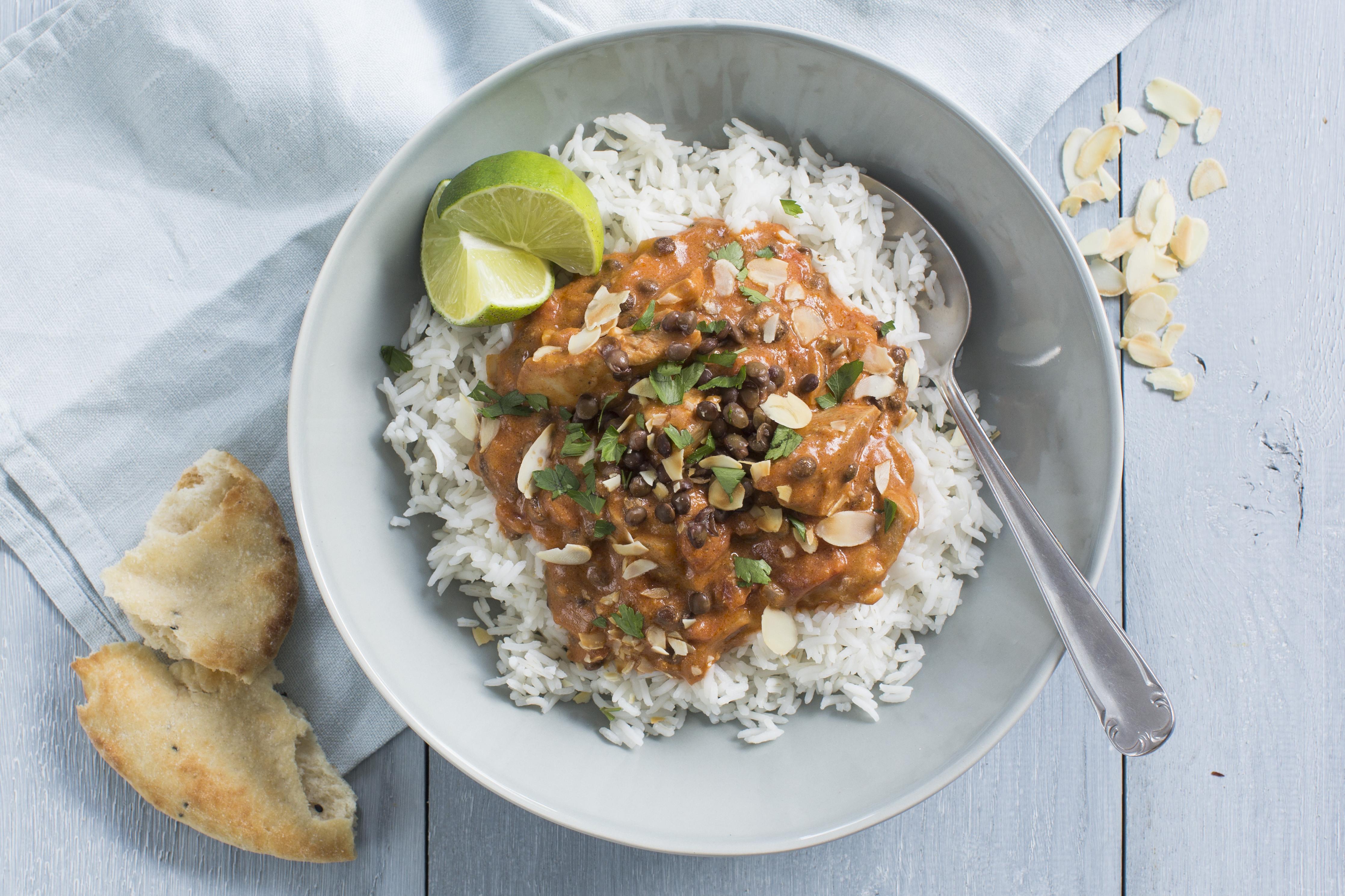 Linzen Curry Met Rijst Hr16