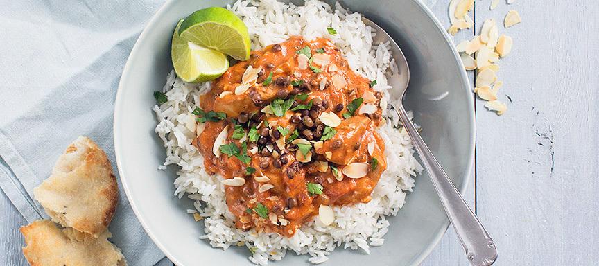 Linzen Curry Met Rijst B